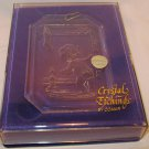 CHARMING ETCHING CRYSTAL BY COMAR CHRISTMAS ORNAMENT WINDOW LIGHT CATCHER