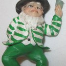 CHARMING DANCING HAPPY LUCKY LEPRECHAUN FIGURINE IRISH CHRISTMAS ORNAMENT