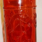 "DECORATIVE RED GLASS GRAPE VINE 12"" BOTTLE NEW"