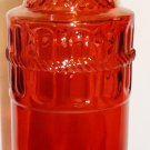 """DECORATIVE RED GLASS 11"""" BOTTLE NEW"""