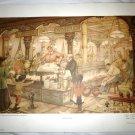 VINTAGE ANTON PIECK PAPER ART PRINT THE PAINCAKE BOOTH PRINTED IN HOLLAND