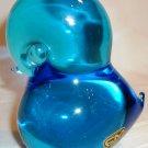 VINTAGE FM KONSTGLAS HANDIWPRK ART BLUE GLASS BIRD DUCK FIGURINE RONNEBY SWEDEN