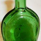 VINTAGE WHEATON GREEN BENJAMIN FRANKLIN GLASS MINIATURE BOTTLE