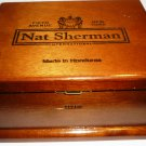 COLLECTIBLE NAT SHERMAN HYDE FIFTH AVENUE CIGAR WOODEN BOX BRASS CLASP LOCK