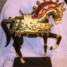 STUNNING HANDPAINTED METAL INDIA CEREMONIAL WEDDING HORSE FIGURINE STATUE PIER 1