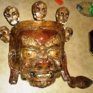 ANTIQUE TIBETIAN CHINESE CITIPATI MASK WALL HANGING BUDDHISM