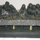 BLACK LAVA COAL RESIN CHRISTIANITY LAST SUPPER