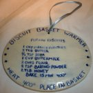 POTTERY BISCUIT BREAD BASKET WARMER & POTATO BISCUIT RECIPE