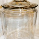 OVERSIZE CLEAR GLASS CANISTER COOKIE JAR & GLASS LID