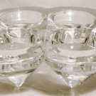 UNIQUE CONTEMPORARY CLEAR GLASS CENTERPIECE SIX CUP CANDLEHOLDER VOTIVE