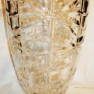 STUNNING VINTAGE CLEAR CUT CRYSTAL GLASS PEDESTAL VASE 12""