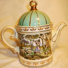 SADLER CLASSIC COLLECTION PORCELAIN TEAPOT ENGLAND SPORTING SCENES SHOOTING