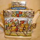 SADLER CLASSIC COLLECTION PORCELAIN TEAPOT ENGLAND CASTILLE KING ARTHUR HERO