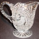 VINTAGE HOFBAUER GERMANY BYRDES COLLECTION CUT CRYSTAL ETCHED BIRD PITCHER