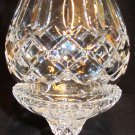 VINTAGE BOHEMIAN CUT CLEAR CRYSTAL FOOTED HURRICANE 2 PCS CANDLE HOLDER