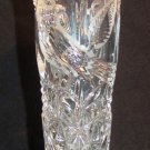 VINTAGE HOFBAUER GERMANY BYRDES COLLECTION CUT CRYSTAL ETCHED BIRD BUD VASE
