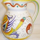 BEAUTIFUL VINTAGE ART POTTERY DERUTA HAND PAINTED IN ITALY PITCHER
