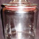 BIG CLEAR GLASS CANISTER COOKIE JAR & GLASS LID