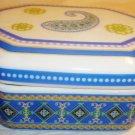 MINIATURE CHARMING PORCELAIN TRINKET BOX ANDREA BY SADEK CAPRI BLUE