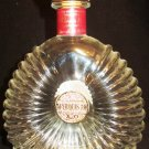 COLLECTIBLE INTRICATE GLASS FRANCE COGNAC BRANDY MARQUIS III BOTTLE EMPTY