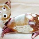 CHARMING MINIATURE GLASS  HANDMADE CAT FIGURINE