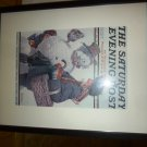 THE SATURDAY EVENING POST POSTER NORMAN ROCKWELL GRANDPA SNOWMAN FRAMED