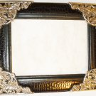 SILVERPLATED AND QUILTED LEATHER 5X7 PICTURE FRAME