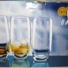 TALL WHISKEY CRYSTAL GLASS  SET OF 6 350 ML CLUB BOHEMIA CRYSTALEX CZECH