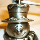 PEWTER CANDLE SNUFFER SNOWMAN CHRISTMAS DECOR