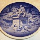 ROYAL COPENHAGEN PORCELAIN K.C.ANDERSEN'  MONUMENT COLLECTIBLE MINIATURE PLATE