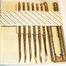 VINTAGE STAINLESS STEEL HMQ NUT CRAB CRACKER & 6 PICKS SET