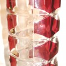 VINTAGE WINDSOR RUBIS J.G. DURAND CLEAR AND CRANBERRY RED GLASS VASE FRANCE