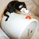 CHARMING ANIMAL SHAPE MUG BLACK CAT