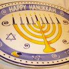 BEAUTIFUL HAPPY HANUKKAH PLATTER JUDAICA GREAT FOR LATKES DOUGHNUTS
