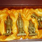 CHINA QUINYONG SOLDIERS REPLICA FIGURINE SET Emperor Qin Shihuang
