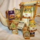 COLLECTIBLE PAUL CARDEW 1996 LILLIPUT LANE LARGE MARKET STALL TEAPOT SIGNED