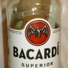 COLLECTIBLE EMPTY BOTTLE BACARDI SUPERIOR PUERTO RICO