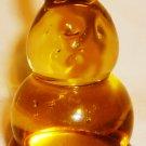 CHARMING ART YELLOW GLASS EASTER BUNNY RABBIT HARE FIGURINE