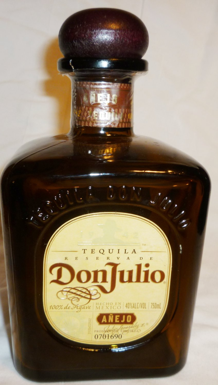 DON JULIO SMOKED GLASS TEQUILA BOTTLE