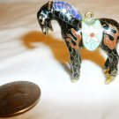 MINIATURE CLOISONNE ENAMEL METAL HORSE FIGURINE ORNAMENT