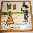 VINTAGE TRAVEL MEMORABILIA ITALY SINTOPRESS CERAMIC MINIATURE TILE CARABINIER