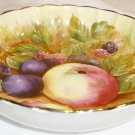 BEAUTIFUL AYNSLEY BONE CHINA ENGLAND ORCHARD FRUIT SCALLOPED DESSERT PLATE