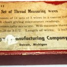 FLYNN MFG. CO J & K THREAD WIRES MEASURING V No. 11 SET