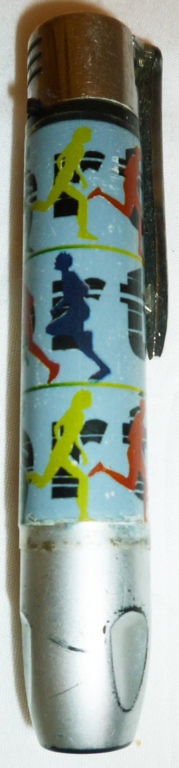 NOVELTY SPORT RUNNING PEOPLE CIGARETTE LIGHTER FLASH LIGHT