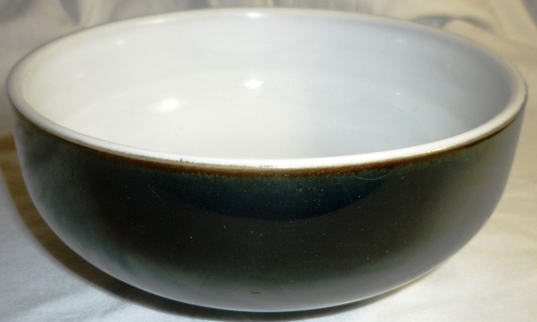 DENBY ENGLAND FREEZER MICROWAVE OVEN DISHWASHER SAFE CEREAL SOUP BOWL BLACK WHT