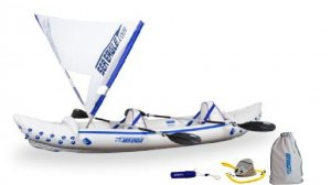 Sea Eagle 330 PRO Inflatable Kayak includes Quicksail Seats and Pump (FREE SHIPPING)
