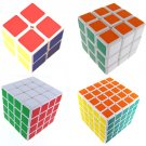set of 2x2x2 3x3x3 4x4x4 5x5x5 Rubick Rubix Competitive Magic Cube Puzzle Game Toy Gift