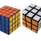 Set of 3x3x3 4x4x4 Rubic Rubix Rubik Magic Cube Puzzle Mind Game Toy
