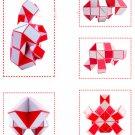 60 Blocks Super Master Magic Ruler Twist Snake Folding Puzzle Toy Kids Gift