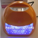 DHL Free Shipping Orange 12W LED Gel Nail Art Lamp Portable Nail Dryer Curing Light Home / Salon